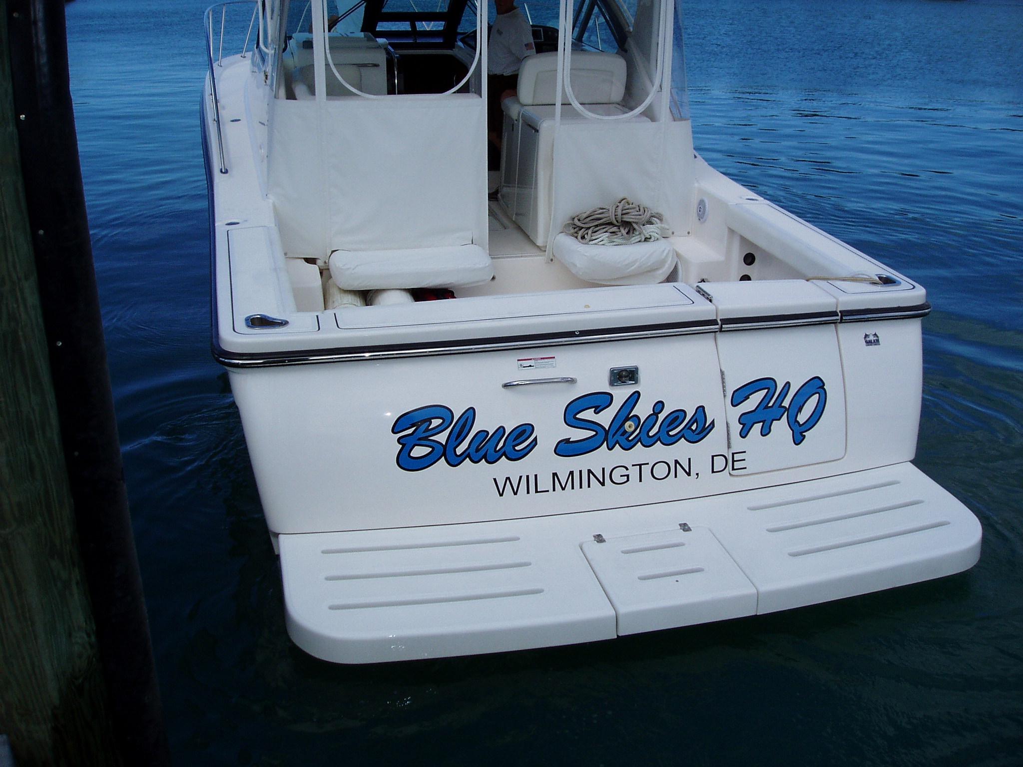 custom boat lettering vinyl lettering